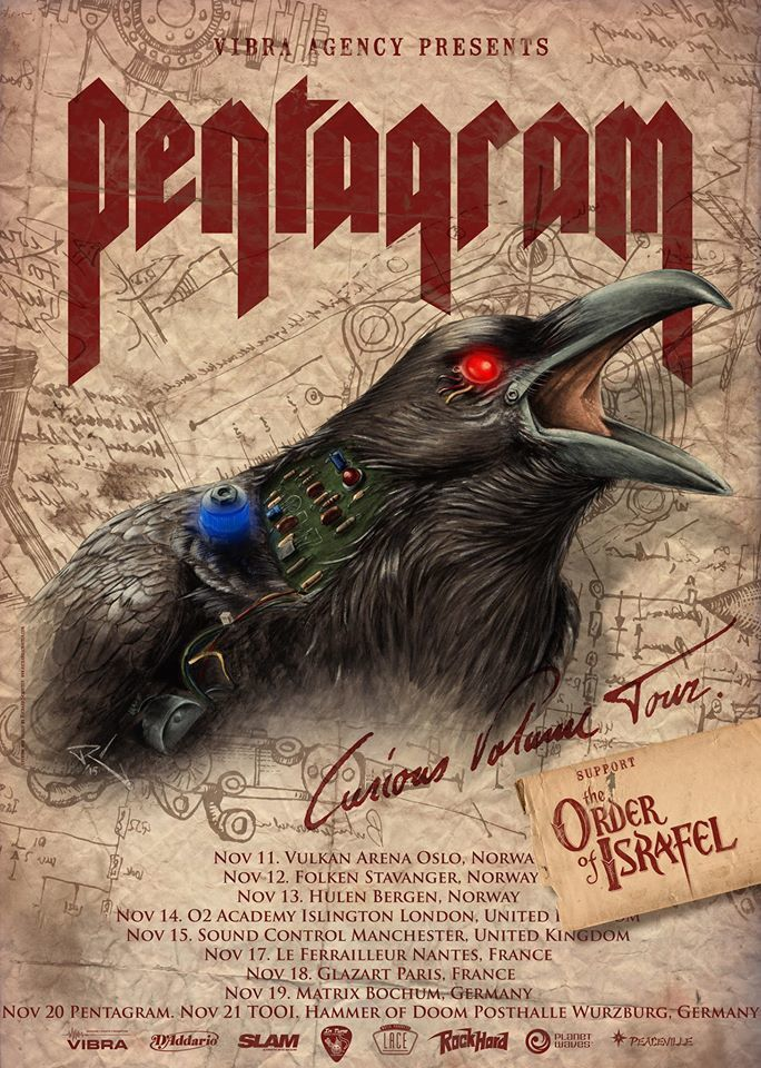 Tour dates PENTAGRAM, THE ORDER OF ISRAFEL