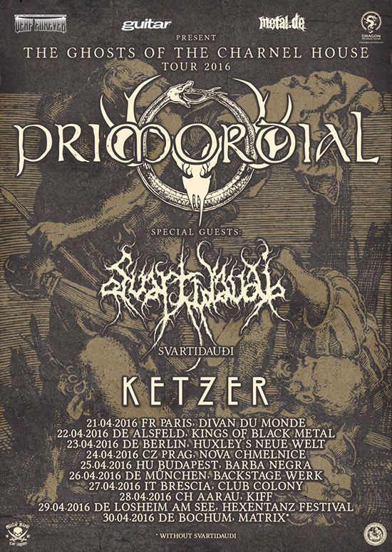 PRIMORDIAL on tour in April