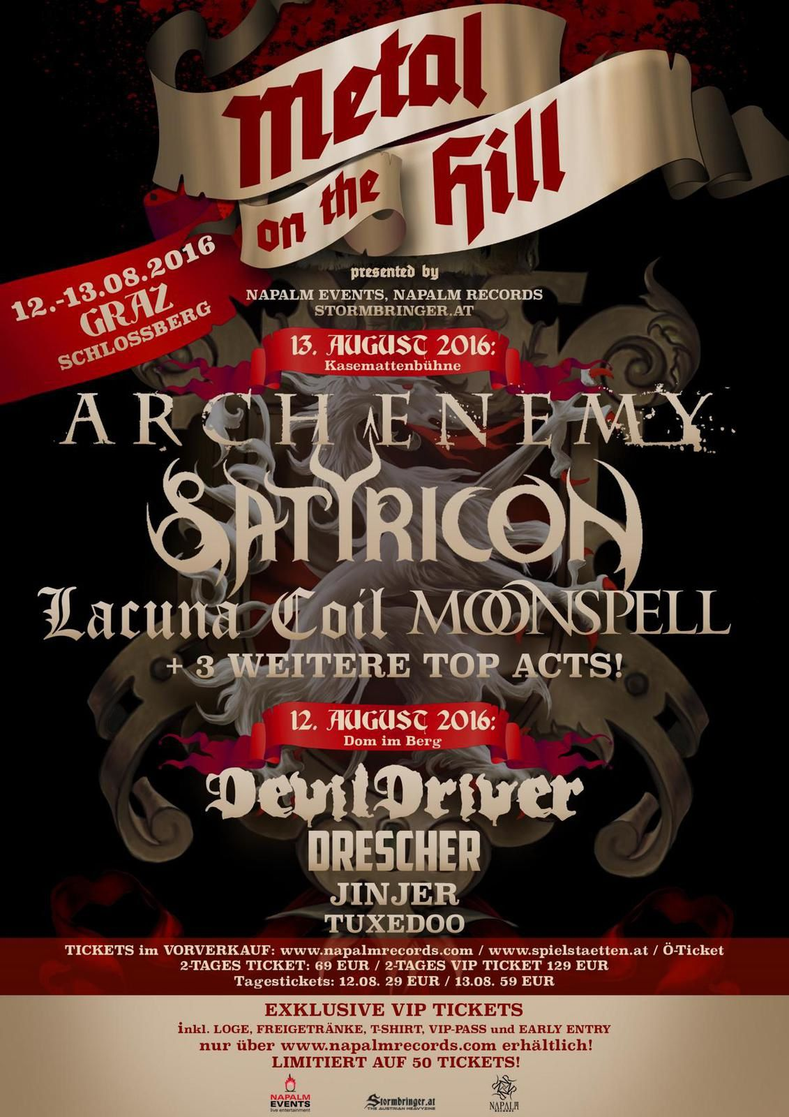 METAL ON THE HILL - new festival in Graz/Austria