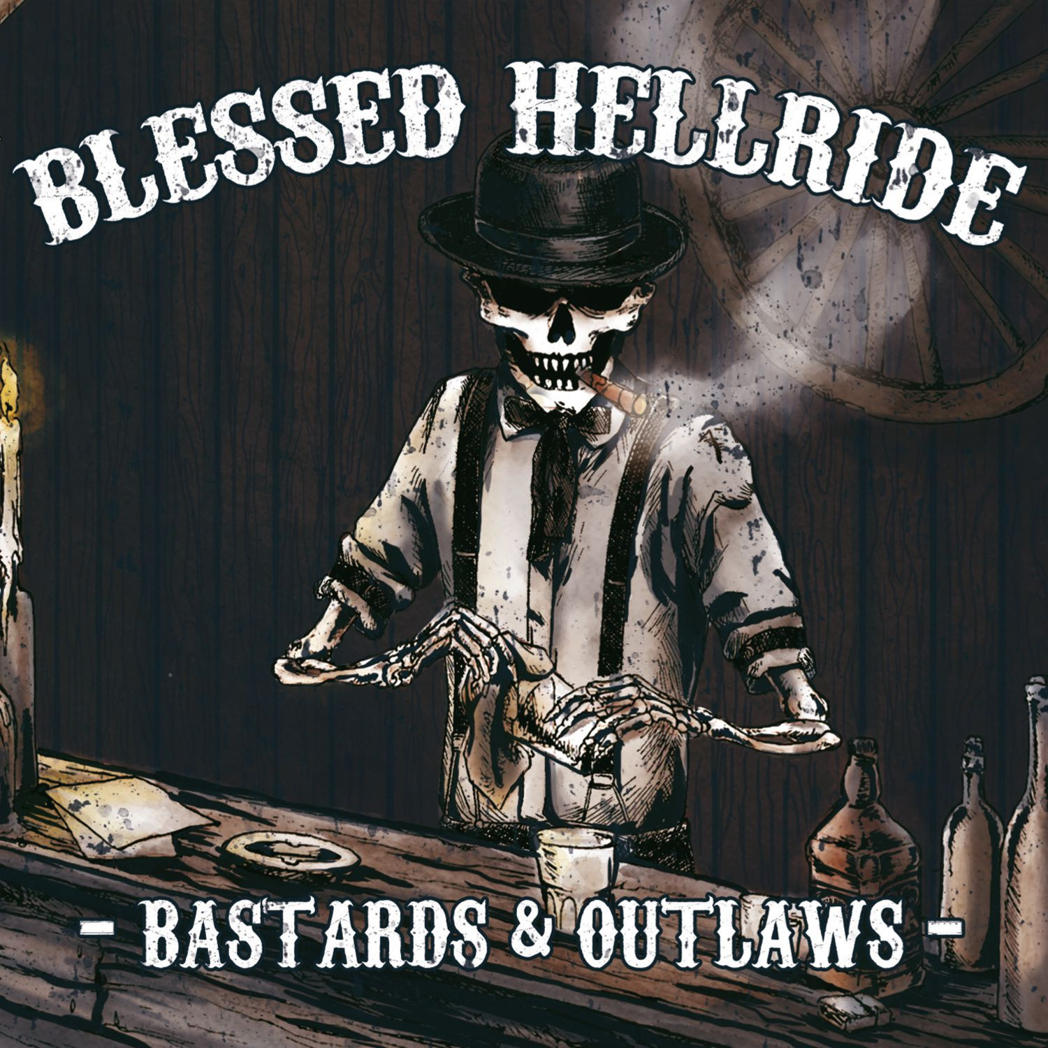 CD review BLESSED HELLRIDE &quot&#x3B;Bastards &amp&#x3B; Outlaws&quot&#x3B;