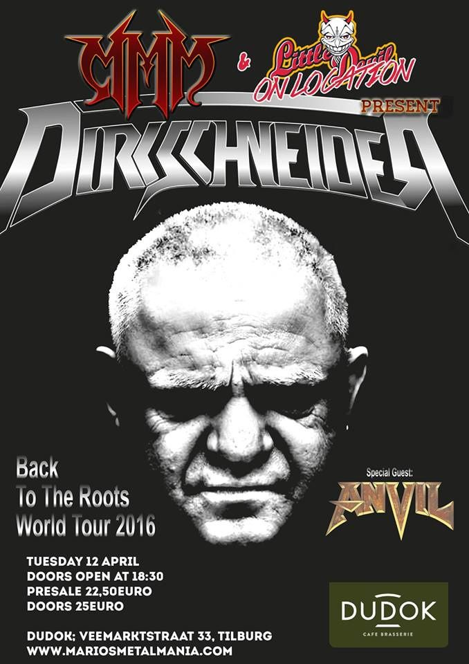 Tomorrow night: DIRKSCHNEIDER in Tilburg