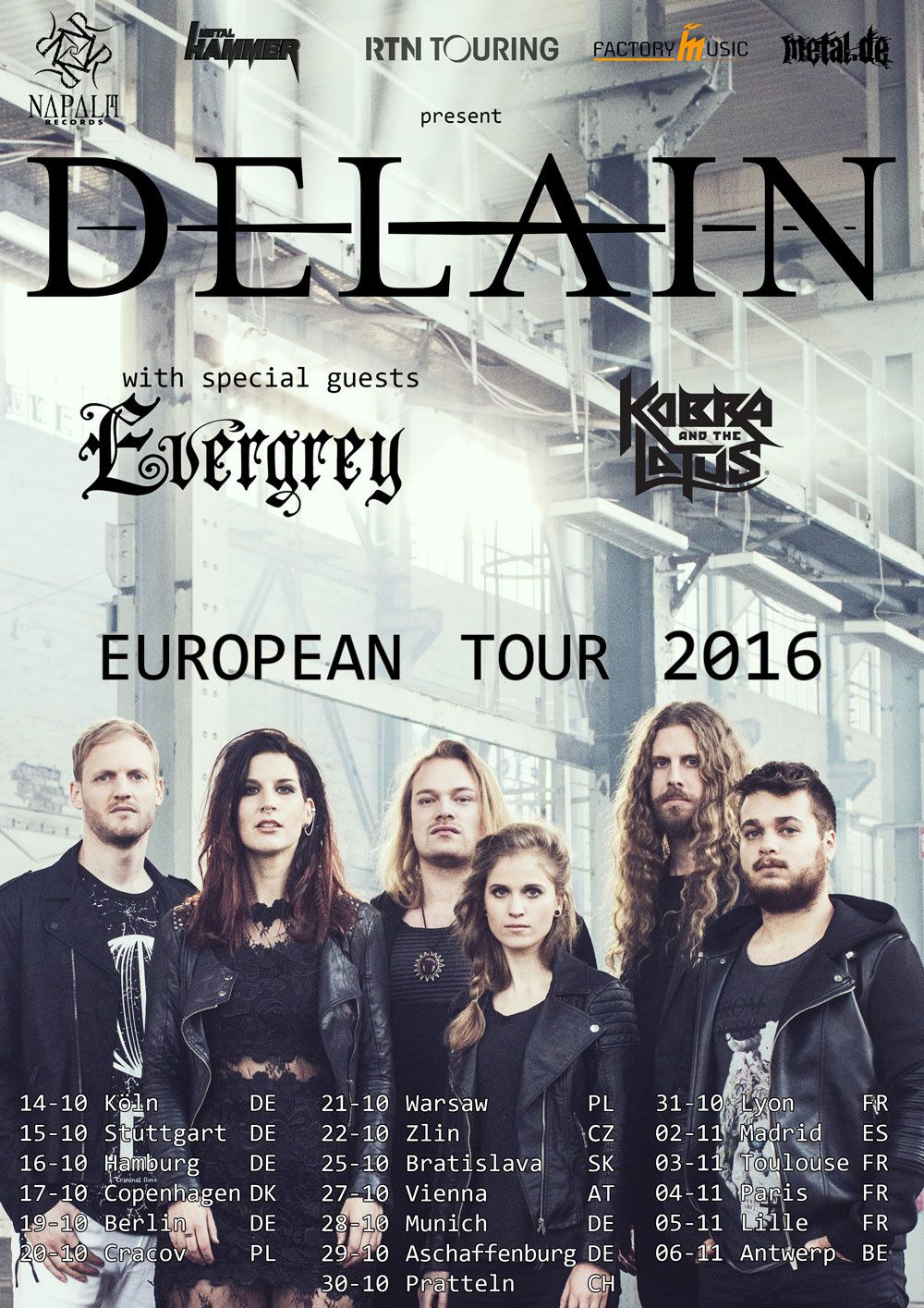 DELAIN announces European tour for autumn