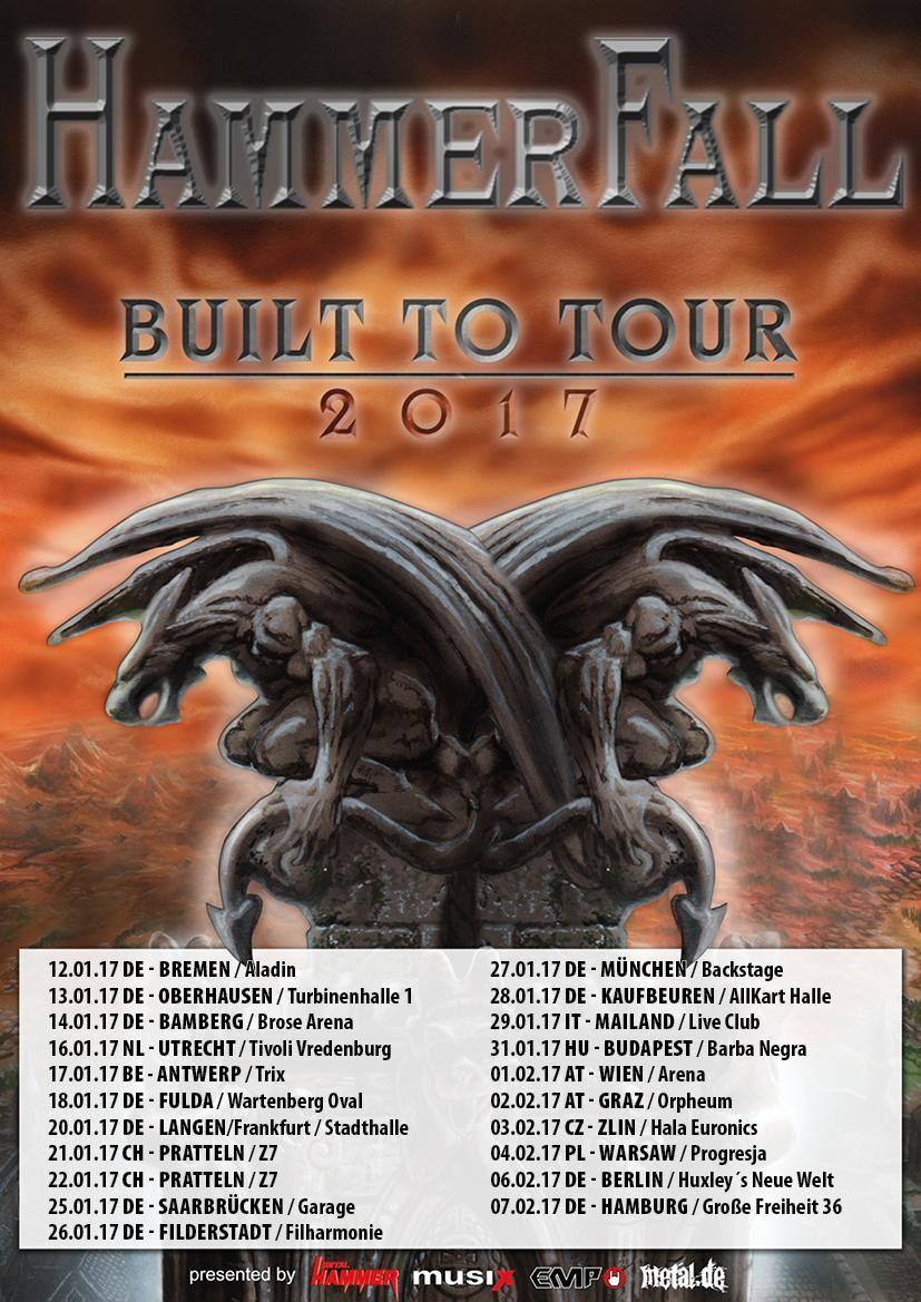 HAMMERFALL tour dates for Europe