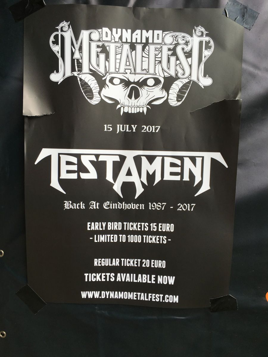 TESTAMENT at next years DYNAMO METAL FEST