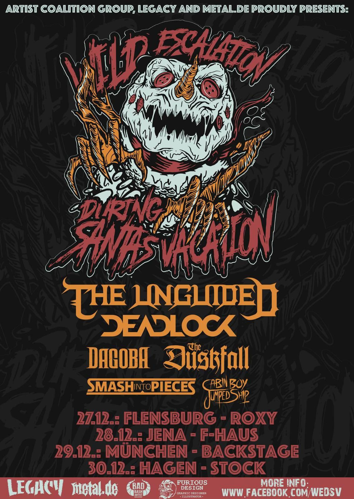 DEADLOCK and THE UNGUIDED on tour in Germany