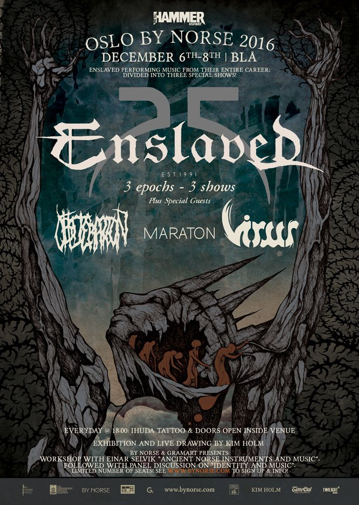 Special ENSLAVED shows in Oslo in December