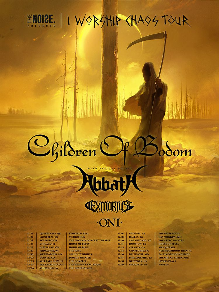CHILDREN OF BODOM and ABBATH on North America tour in autumn