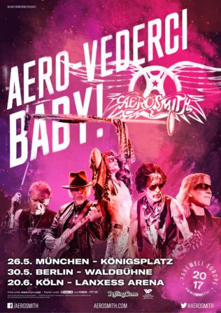 AEROSMITH on tour in Europe in 2017