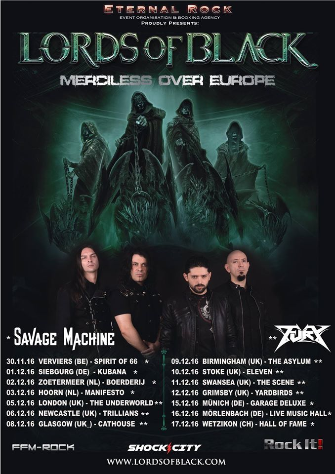 LORDS OF BLACK tour dates for Europe