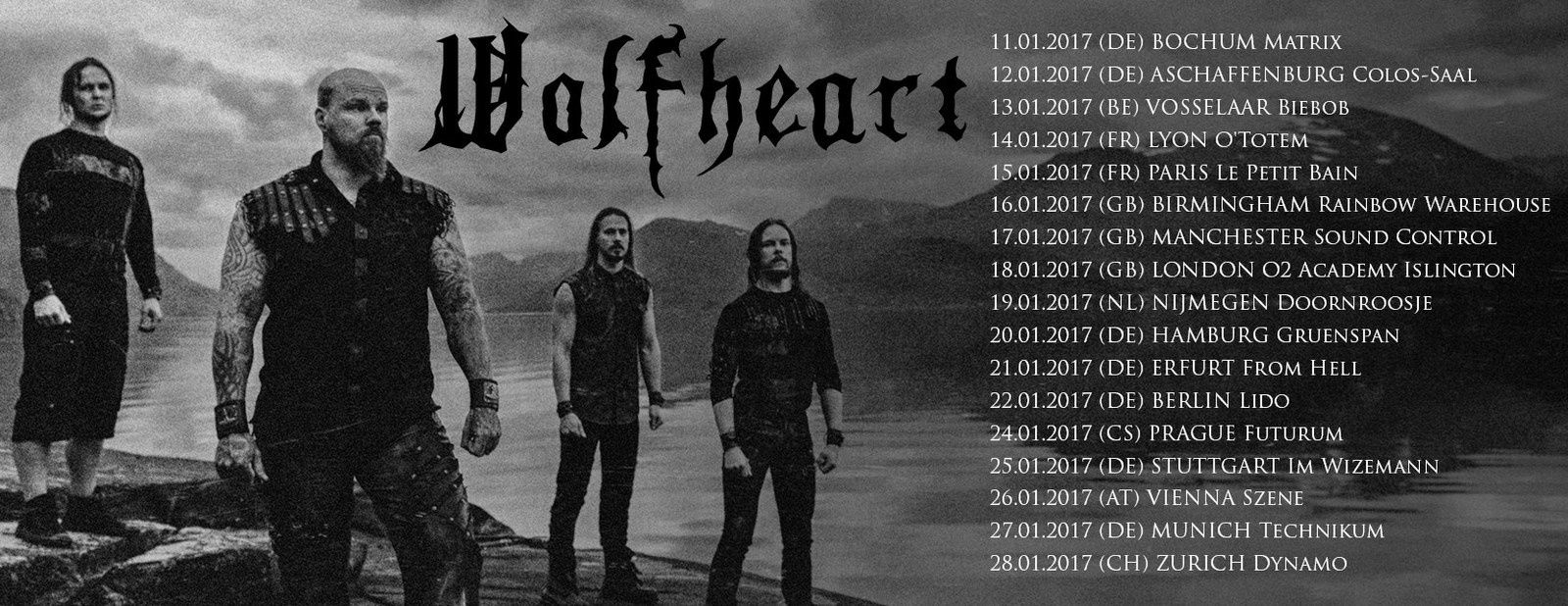 WOLFHEART tourdates and new album