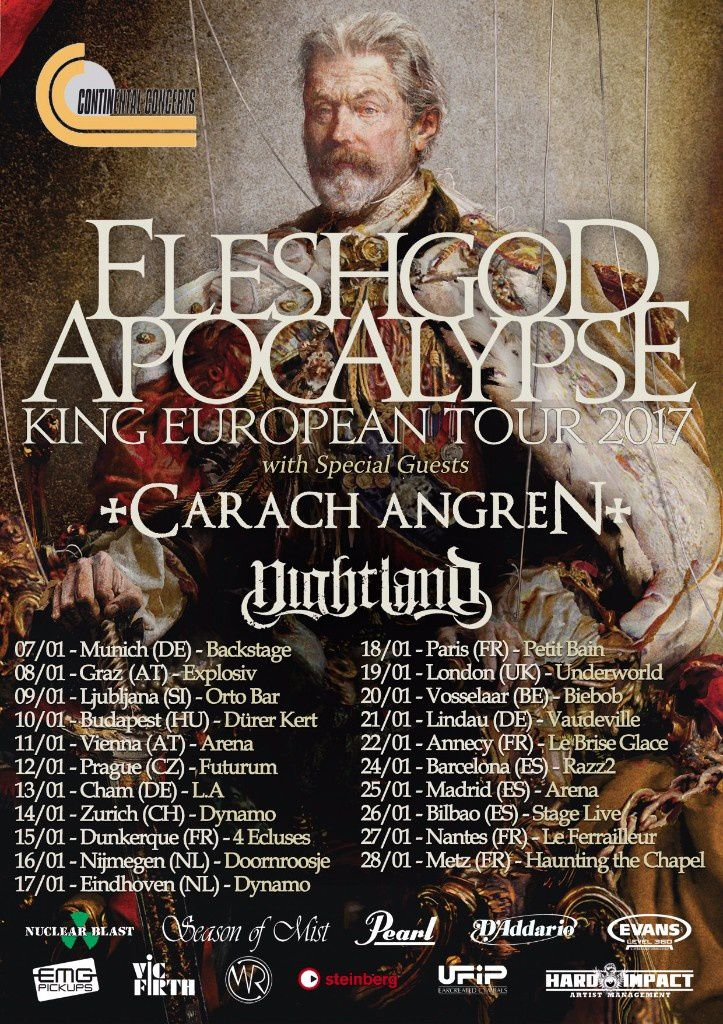 Tourdates FLESHGOD APOCALYPSE with CARACH ANGREN &amp&#x3B; NIGHTLAND