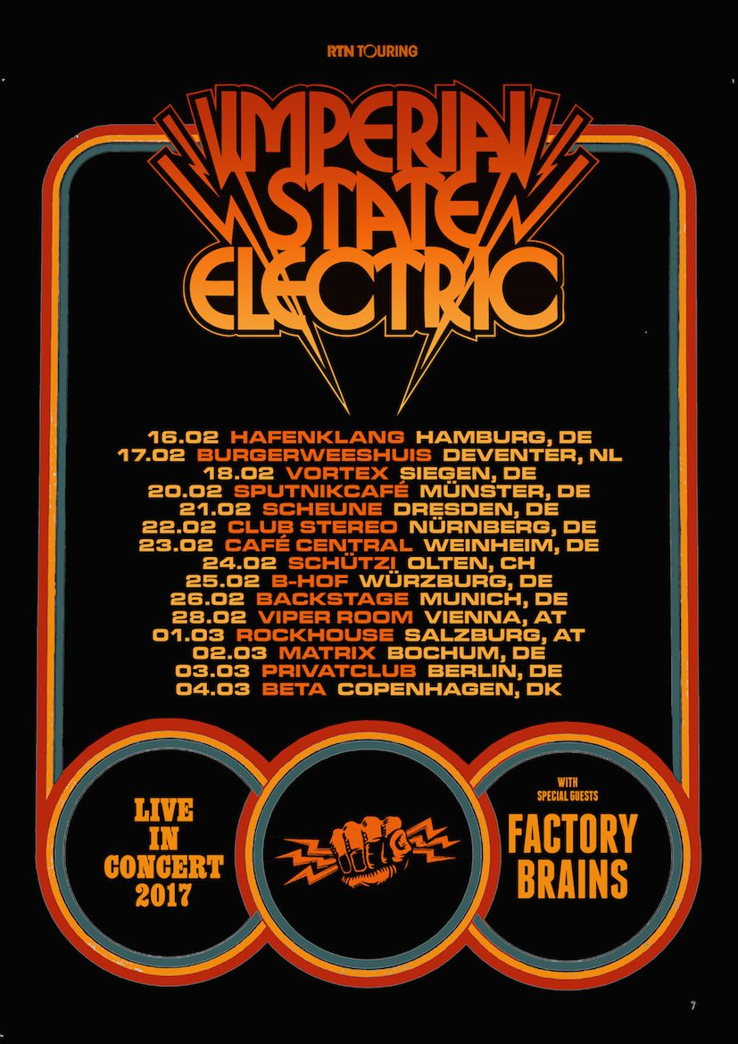 IMPERIAL STATE ELECTRIC tour dates