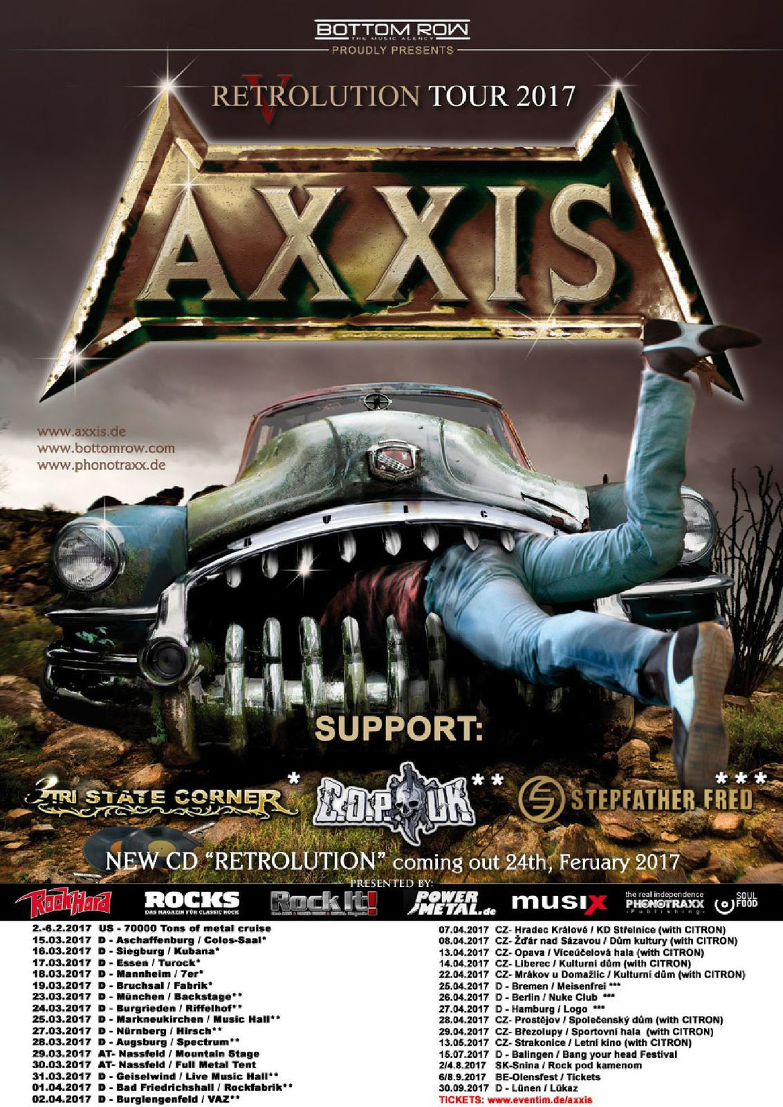 AXXIS tour dates 2017