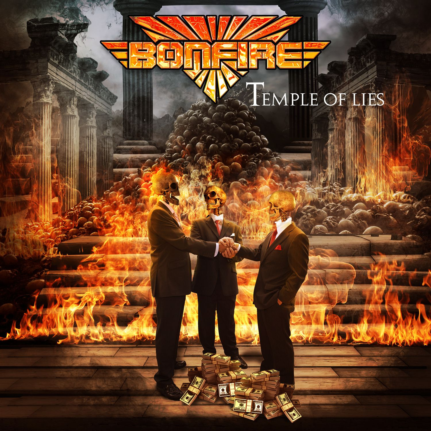 "CD review BONFIRE ""Temple of Lies"""