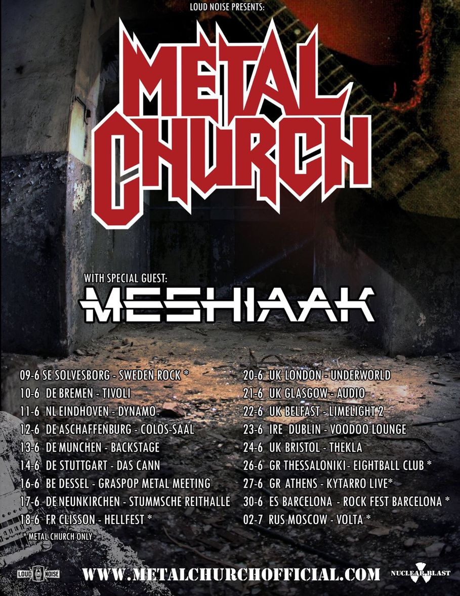METAL CHURCH announced European tour dates