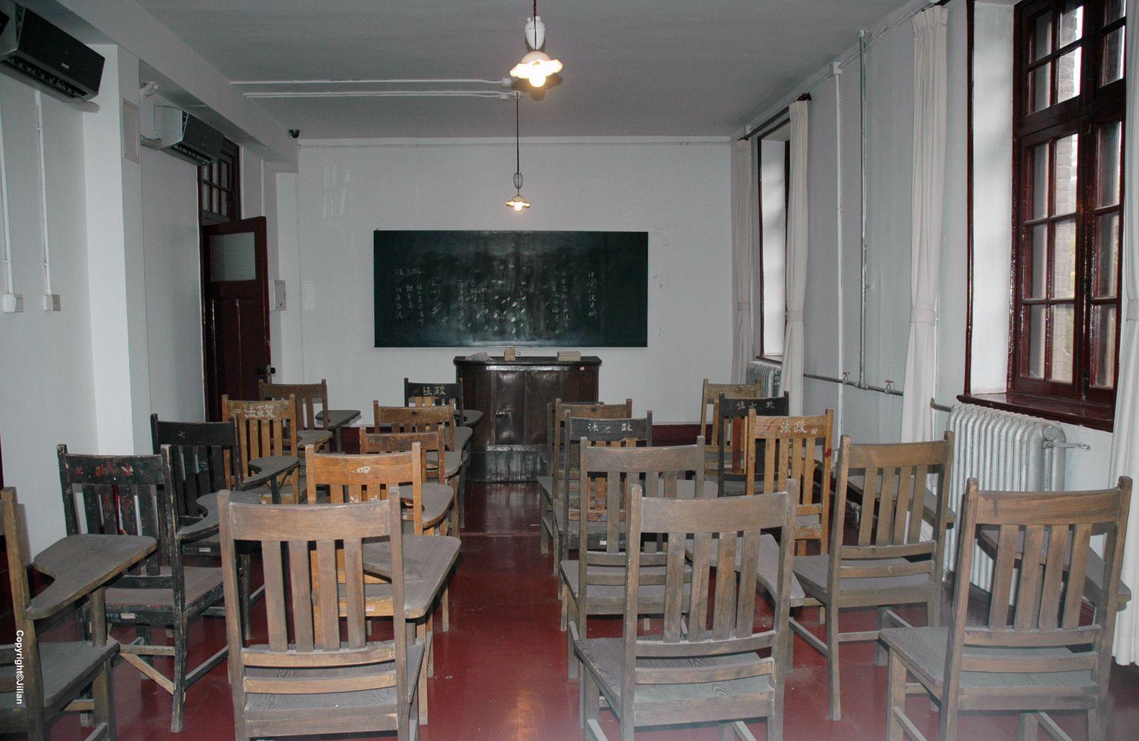 Une salle de classe reconstituée