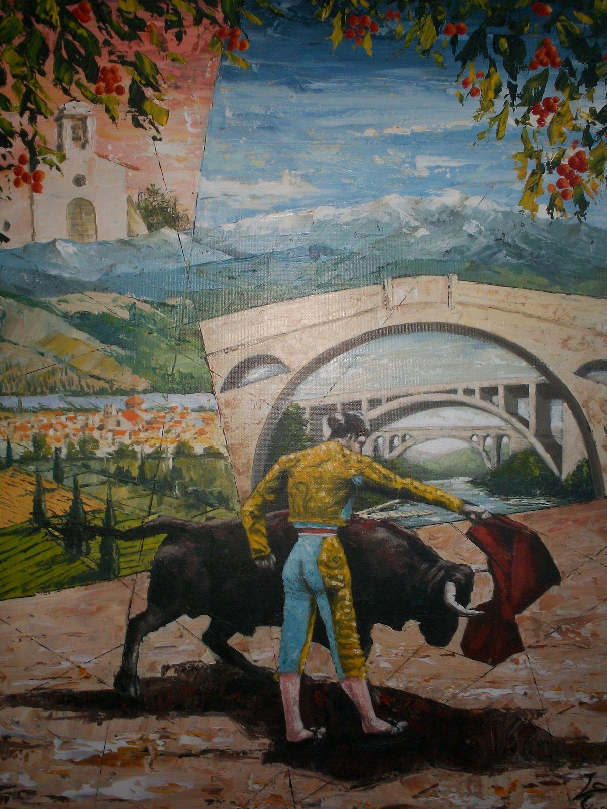Le toréro (80 x 45 cm). Acrylique.
