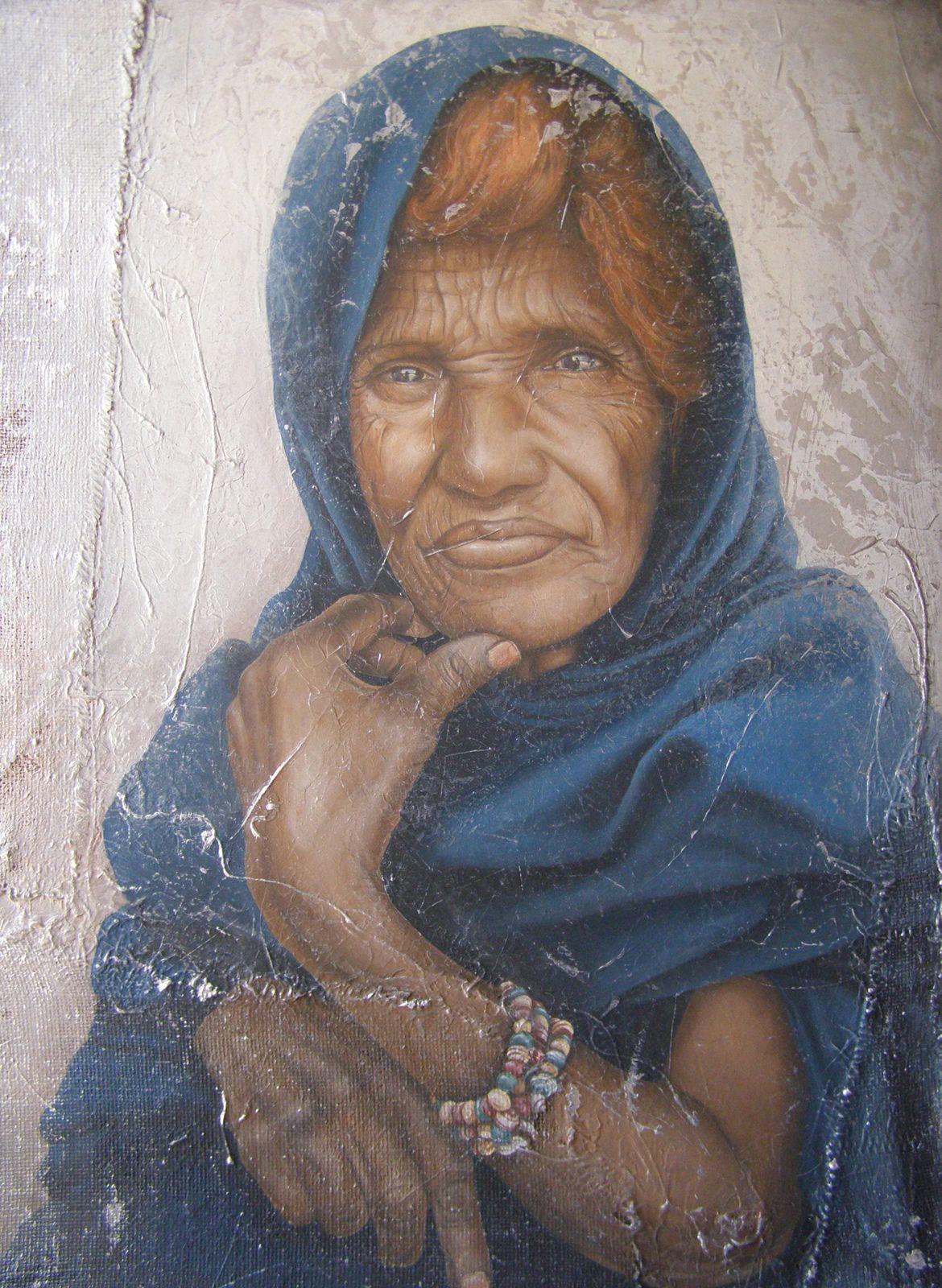 La mauritanienne (100 x 75 cm). Acrylique.
