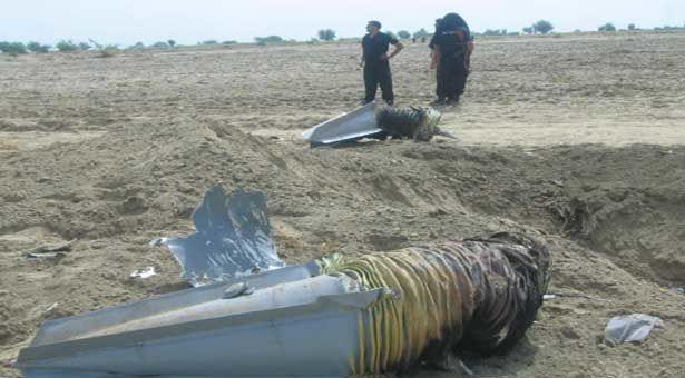 Photo du crash. Copyright : www.thenews.com.pk