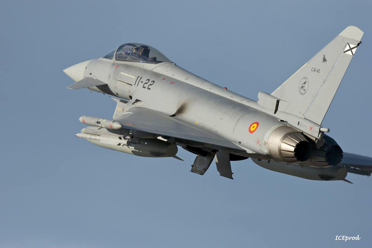 Un Eurofighter Typhoon s'écrase en Espagne
