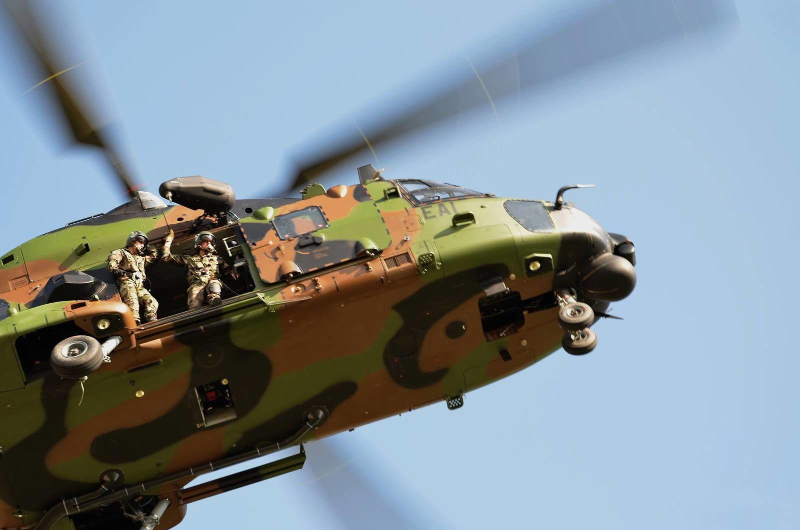 Des hélicoptères NH-90 Caïman de l'Armée de Terre sont déployés au Mali