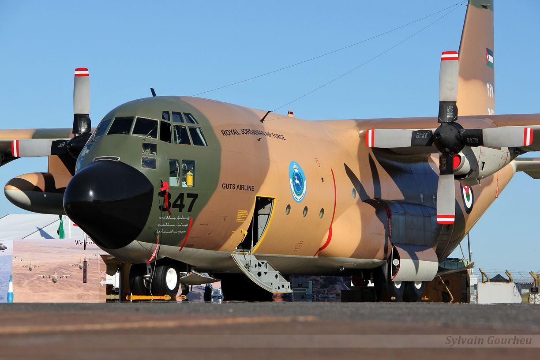 Un C-130 Hercules de la Force Aérienne Royale Jordanienne avait fait le déplacement jusqu'en Angleterre.