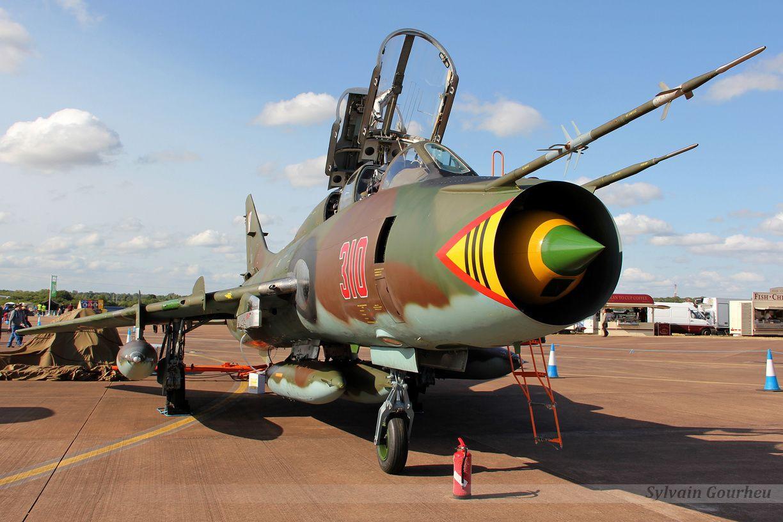 """Un autre incontournable des meetings aériens internationaux : Le Su-22 """"Fitter"""" de la Force Aérienne Polonaise."""