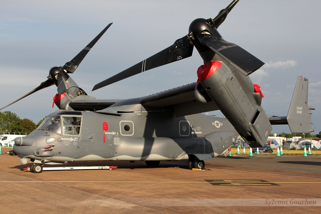 Le CV-22B Osprey de l'US Air Force, que l'on ne présente plus.