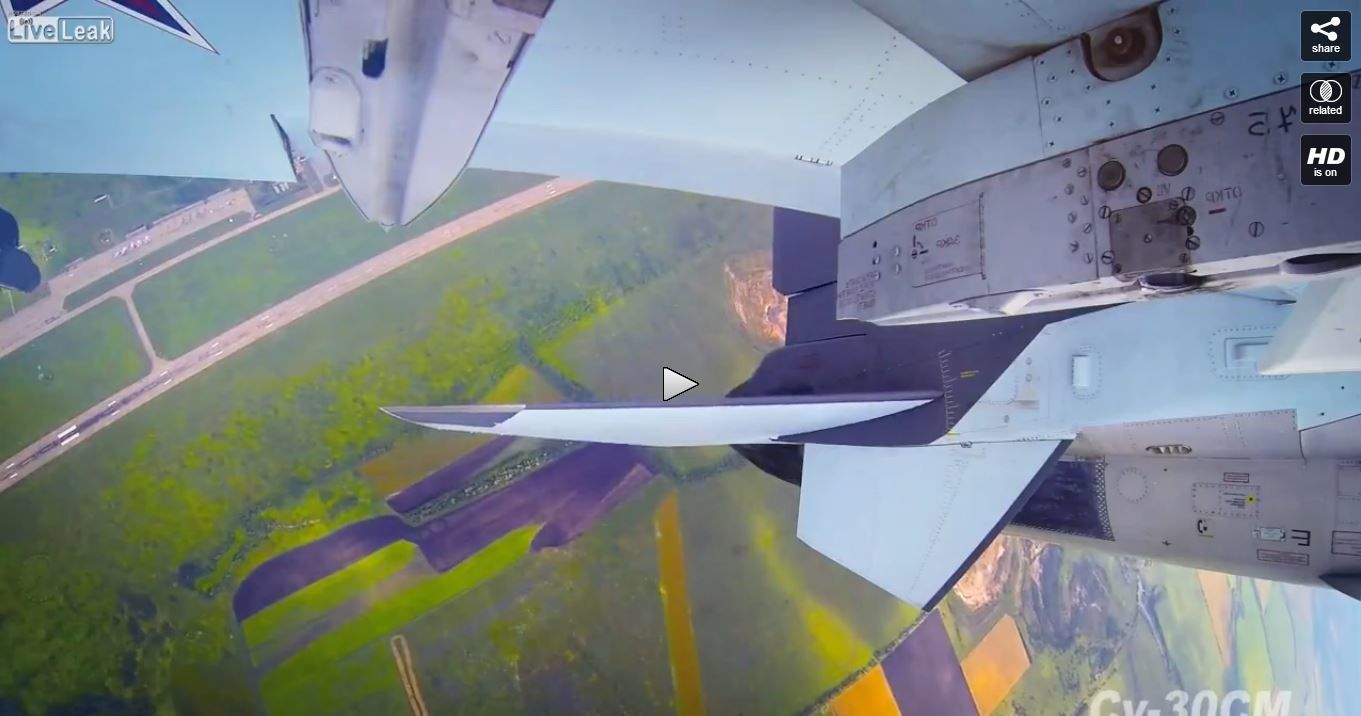 VIDEO : En vol avec un Su-30SM de la l'Armée de l'Air russe
