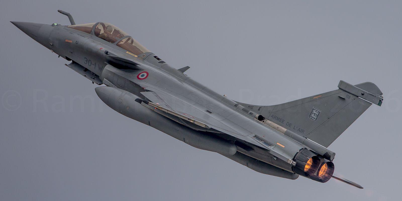 Ce Rafale du «Neu-Neu» se la joue local puisque cet escadron est stationné sur la 118 depuis 2012 - Photo : © Rami Khanna-Prade.