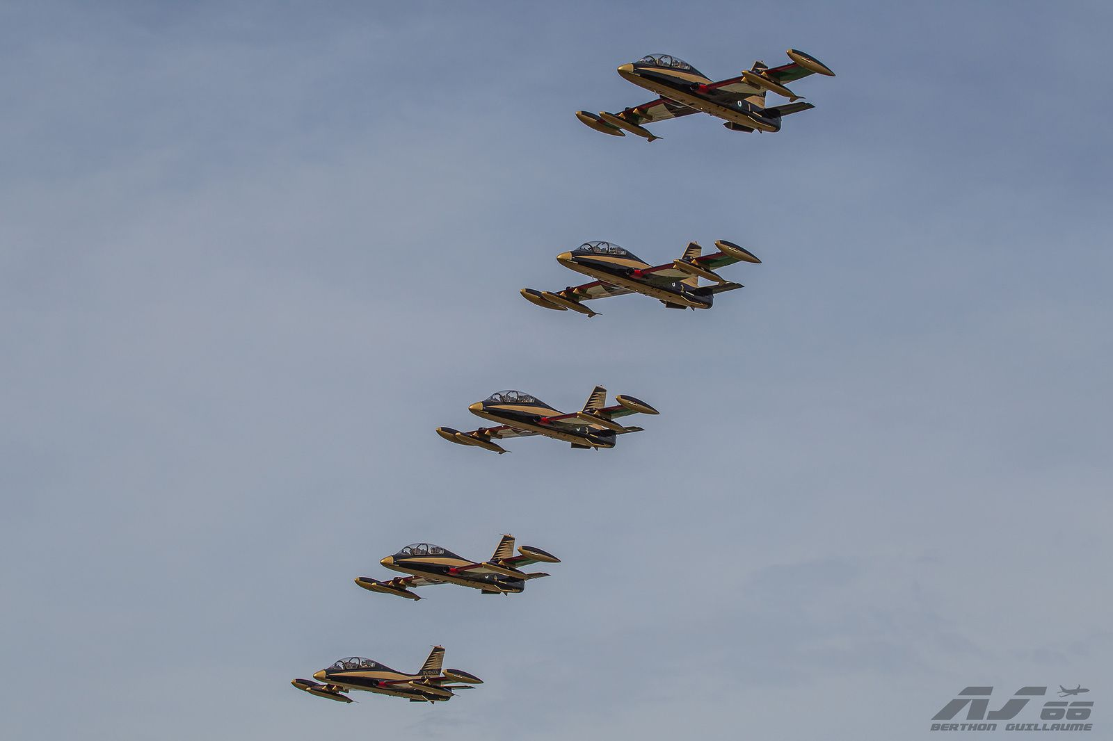 PHOTOS - La patrouille acrobatique Al Fursan des Emirats Arabes Unis se pose en France
