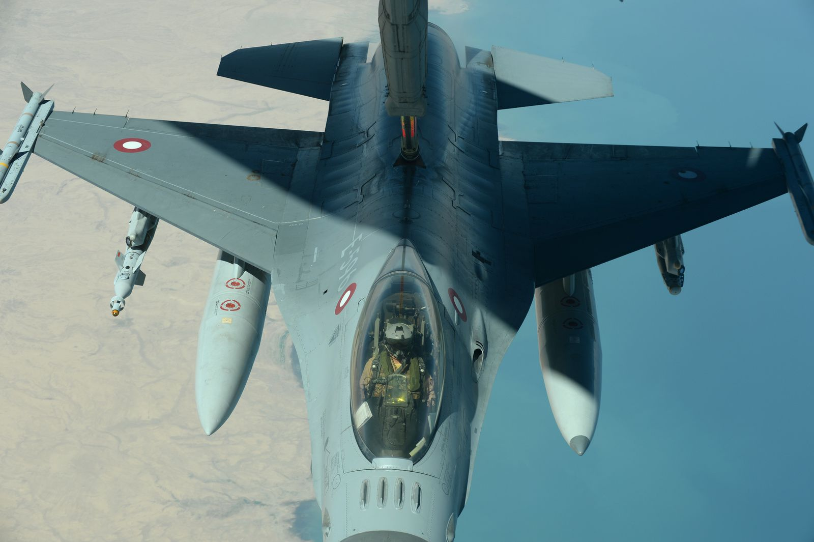 © USAF - Un F-16AM de la Flyvevåbnet lors d'une mission de l'opération Inherent Resolve.