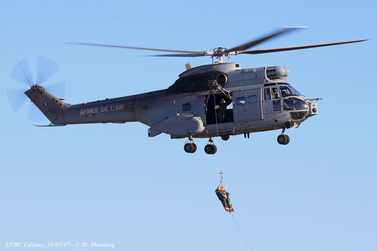 Démonstration de la mission historique du Puma : le Search And Rescue (SAR).
