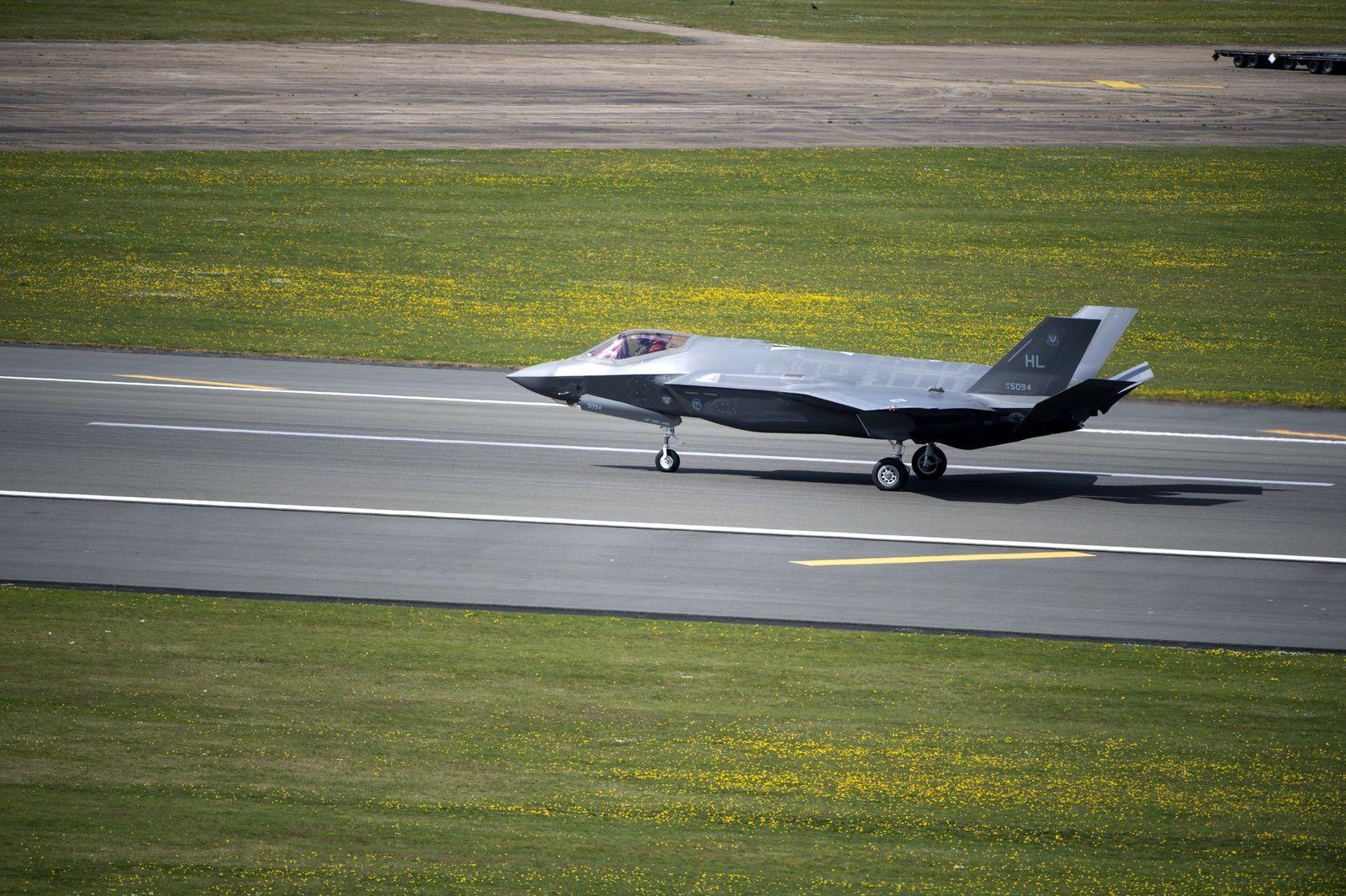© USAF - Un des quatre F-35A sur la base aérienne anglaise de Lakenheath.