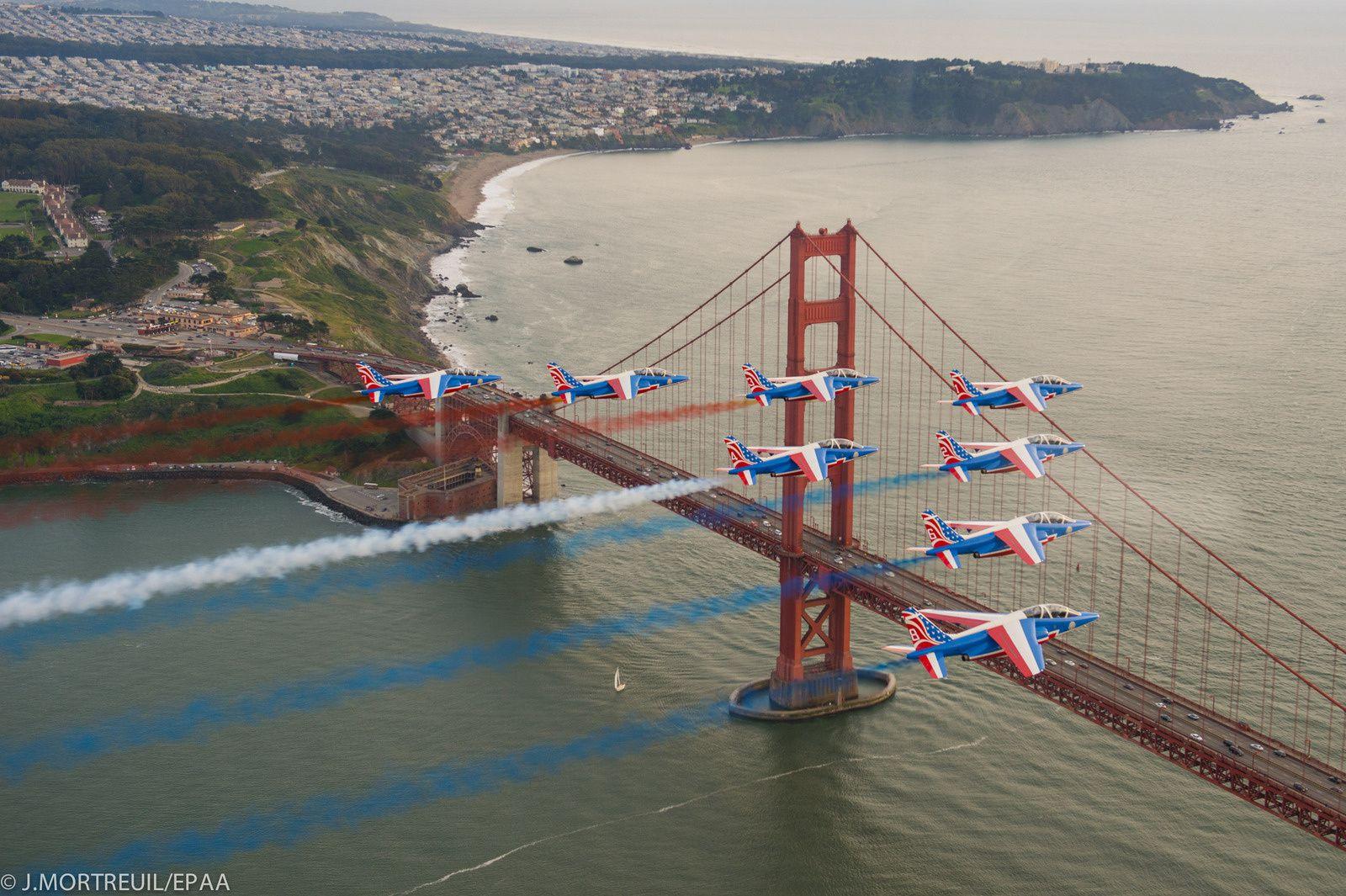 PAF US Tour : La Patrouille de France survole la mythique San Francisco