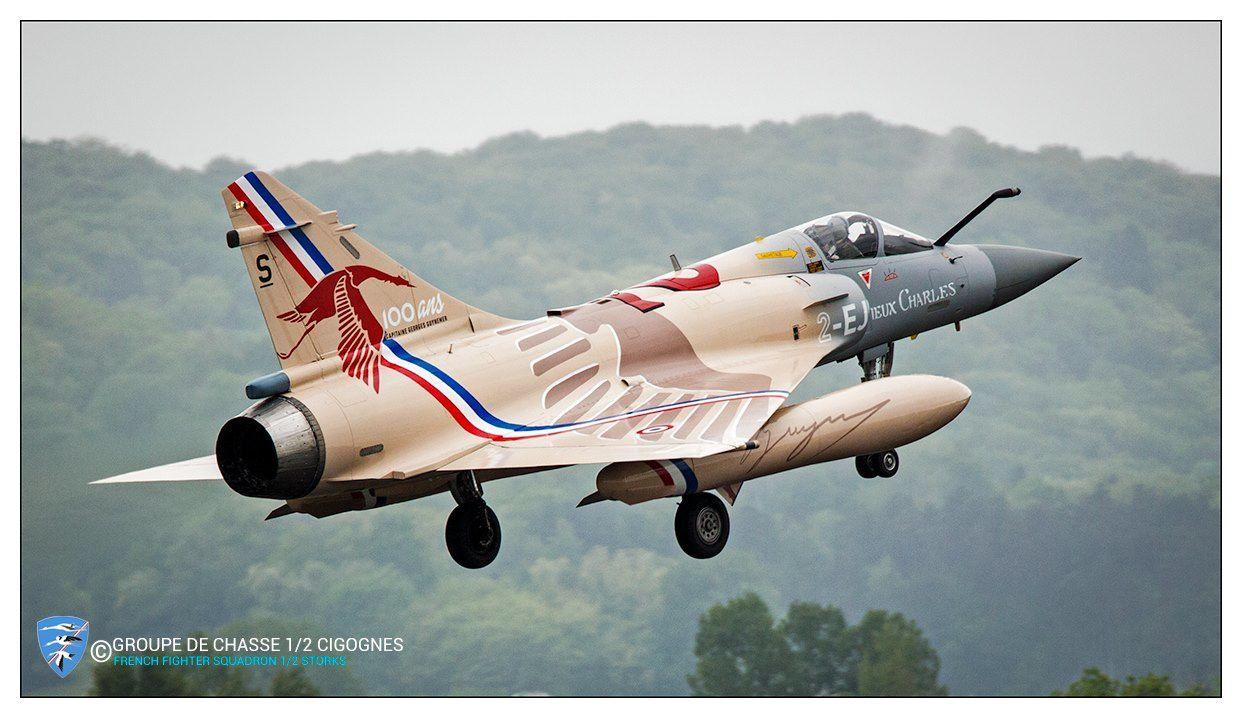© GC 1/2 «Cigognes» - Le Mirage 2000-5F de Guynemer lors d'une sortie depuis la BA 116 de Luxeuil.