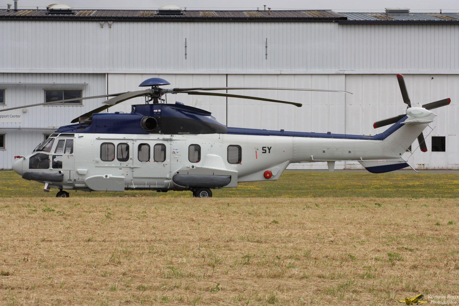 © Romain Roux - Un des deux H225M récupéré par le GAM 56, ici sur l'aéroport de Toussus-le-Noble