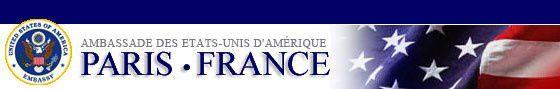 4 PHOTOS D'ILLUSTRATION DES DERNIERES DECOUVERTES TECHNOLOGIQUES EN EGYPTE (PIERRE DE 100 TONNES, CHAMBRE ACCOUSTIQUE ET AUTRES TECHNOLOGIES): 2: PHOTO DU LOGO DE L'AMBASSADE DES USA EN FRANCE (CENTRE D'APPLICATION DU PROJET RIVKIN).