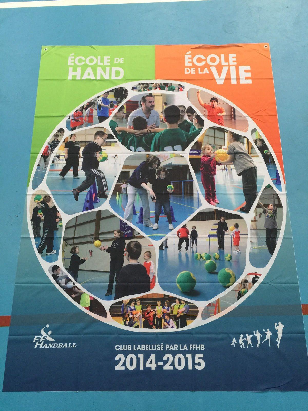 Label OR pour nos Ecoles de Handball