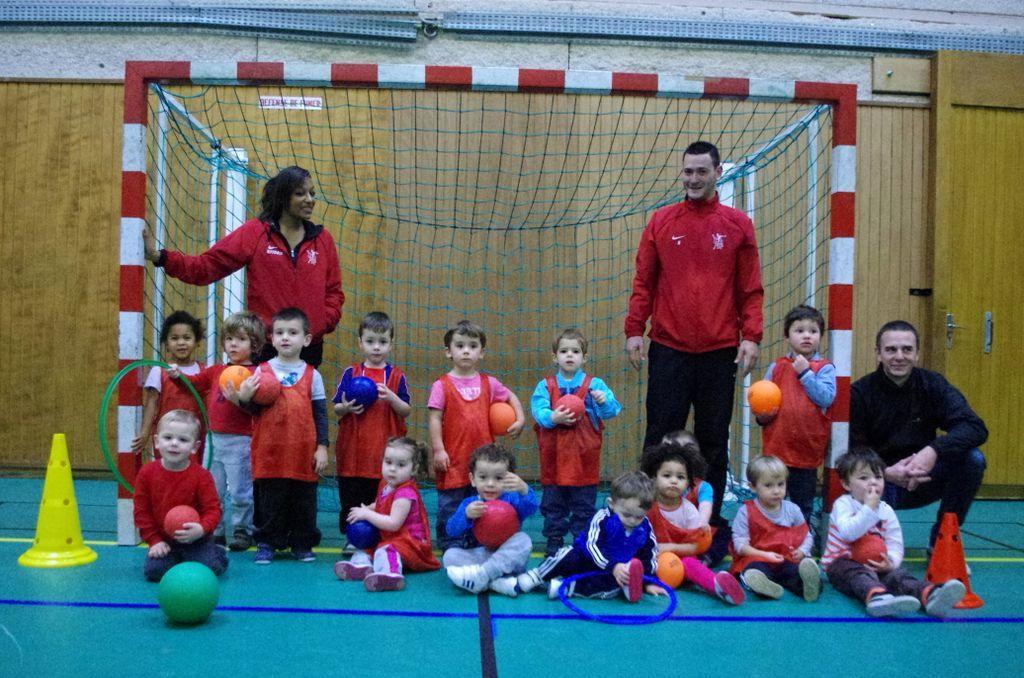 Baby Handball avec Eva et Lucas