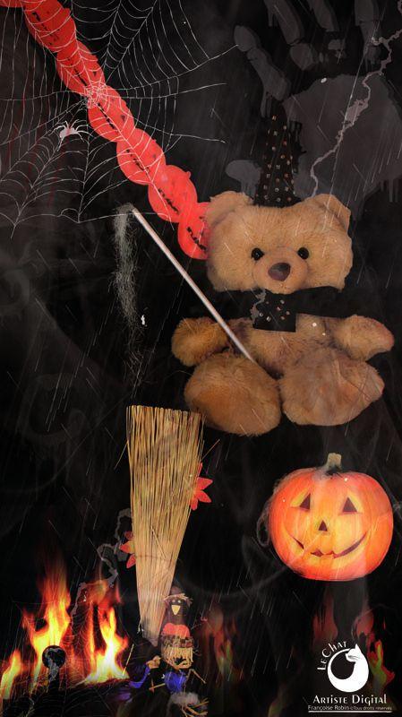 C'est Halloween pour mon ours...