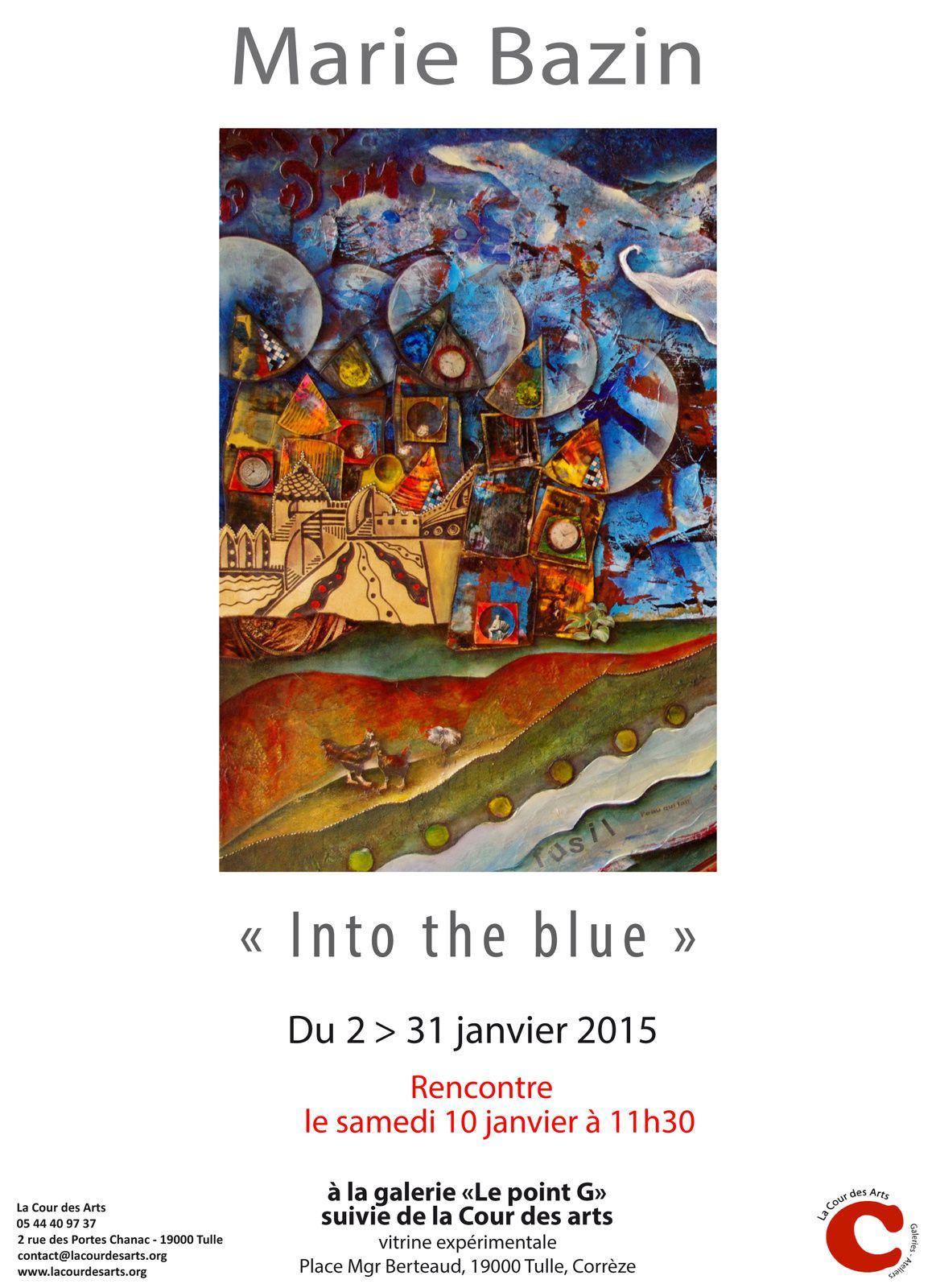 &quot&#x3B;INTO THE BLUE&quot&#x3B;, exposition Marie BAZIN à Tulle - À voir jusqu'au 31 janvier