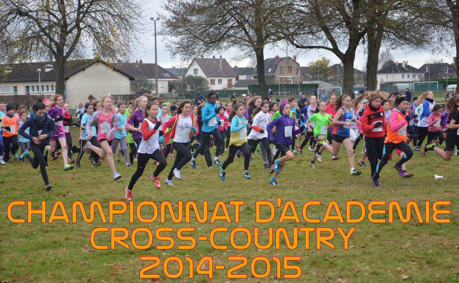 CHAMPIONNAT D'ACADEMIE CROSS 2014/2015