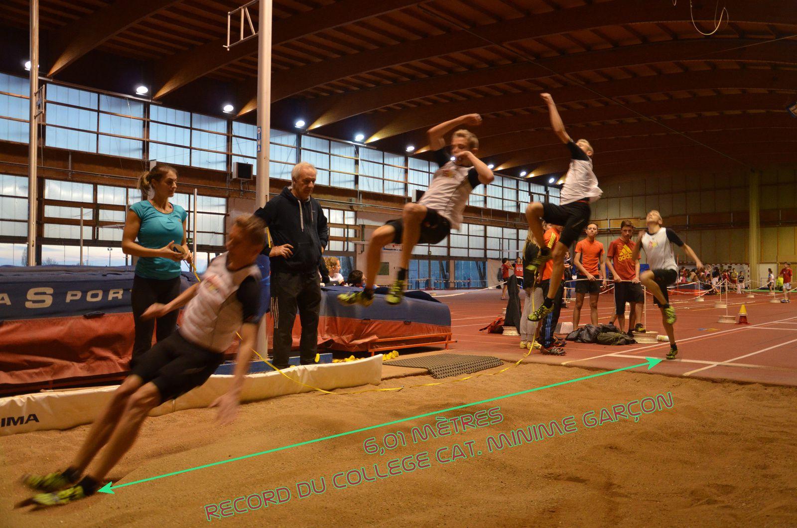 Adrien Patigny premier homme à plus de 6m. au collège Paul Fort