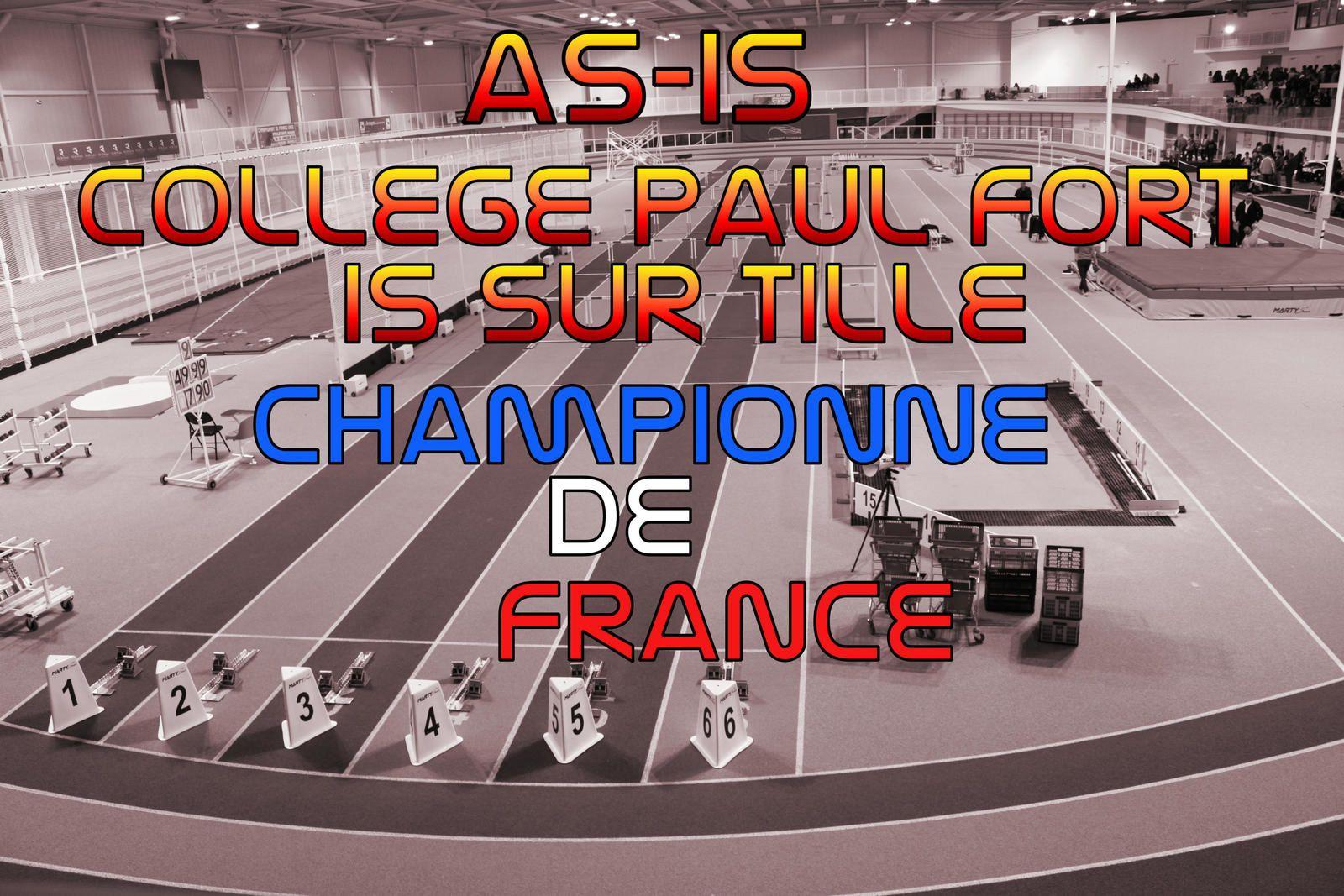 CHAMPIONNAT FRANCE ATHLETISME INDOOR 2015/2016
