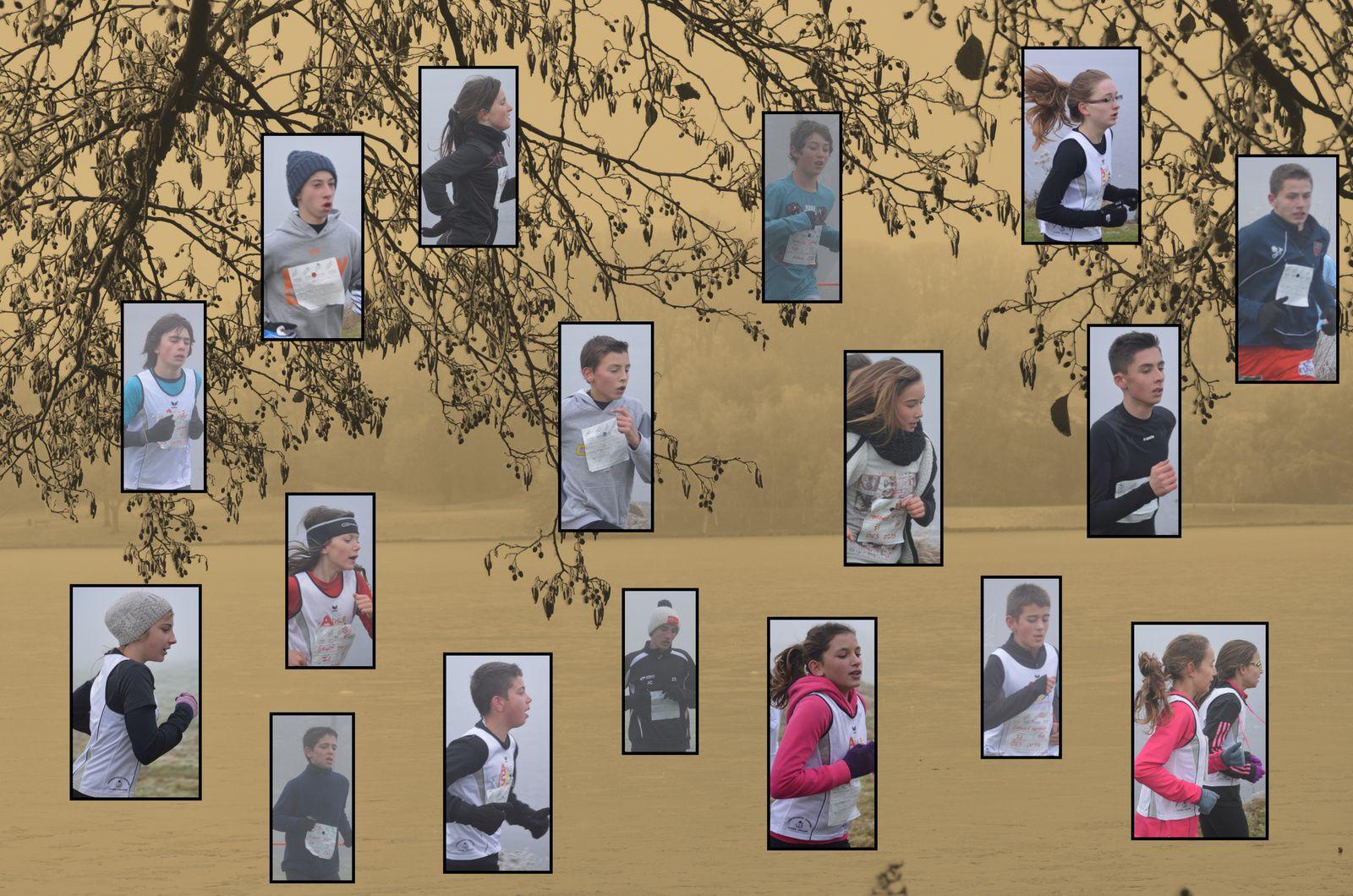 49 élèves du collège autour du lac gelé