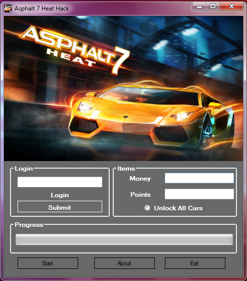 Asphalt 7 Heat Money and Points 99999 Cheat Download