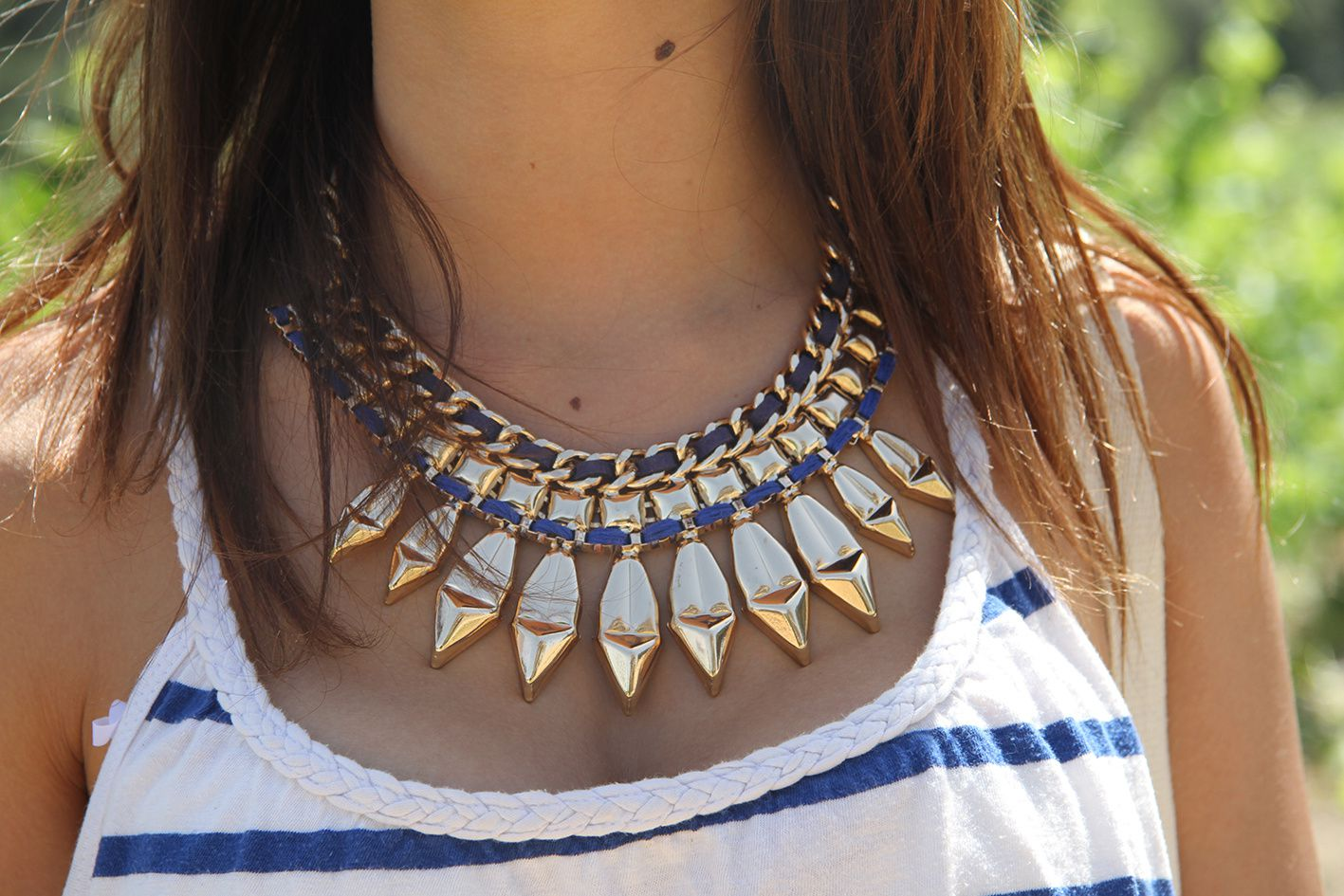 collier NEWLOOK - top H&M - Jupe FOREVER21