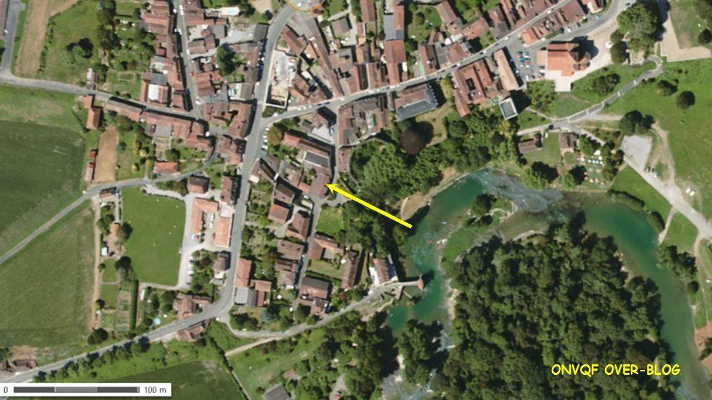 Vue aérienne par le géoportail.fr
