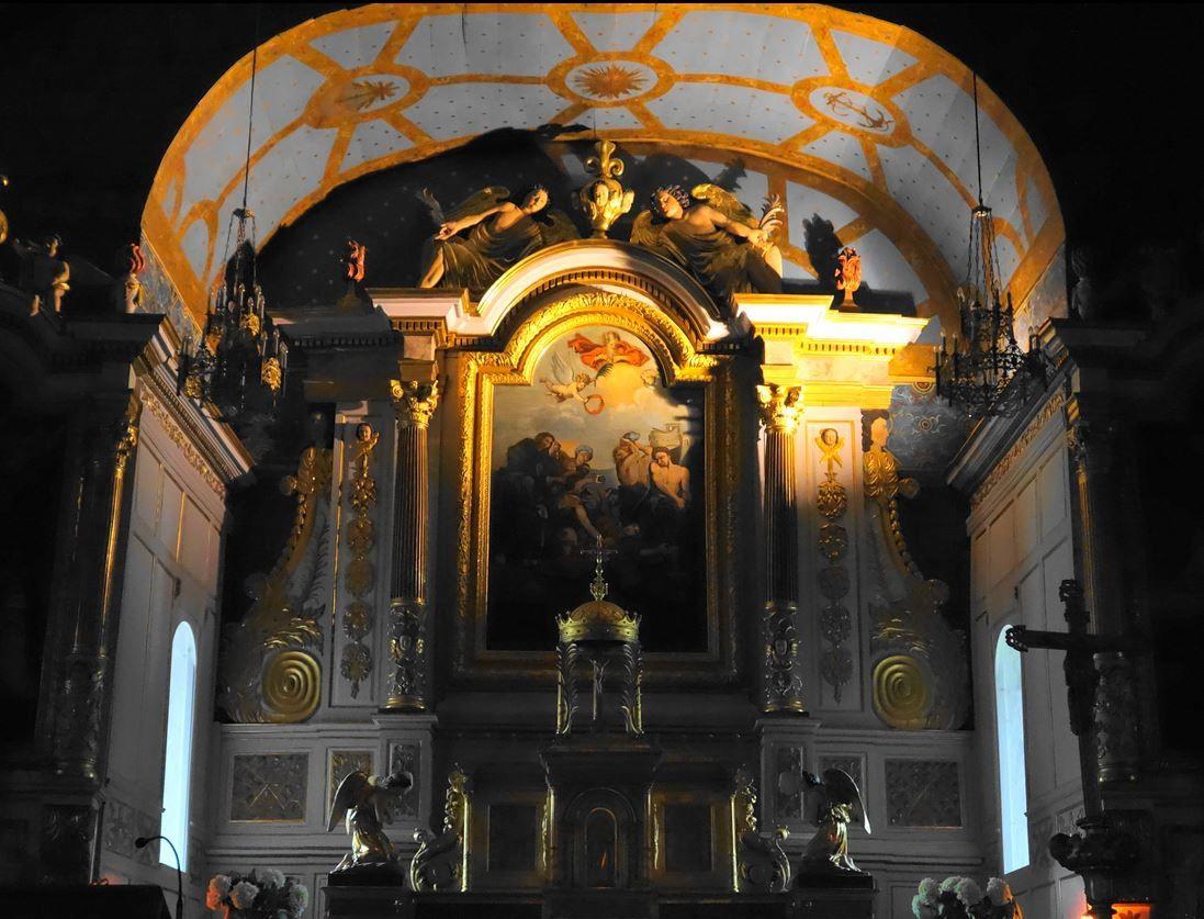 Le retable, l'autel et divers autre mobilier de cette église sont inscrits au monuments historiques depuis 1975. Merci à Vous. Droits réservés.